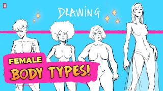 How to Draw ALL FEMALE BODY TYPES!