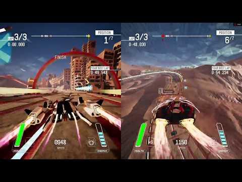 Redout 1.3.0 - 2 players splitscreen - ASUS R7 360 OC 2GB [720p60]