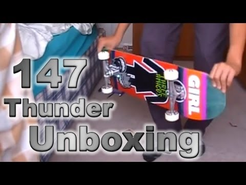 Thunder 147 Hollow Light Trucks Unboxing/ Board Setup