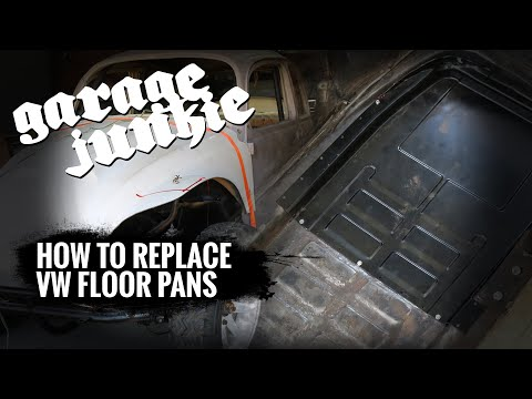 How To Replace VW Bug Floor Pans With The Body On