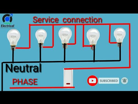 series connection wiring diagram 5 light bulbs 1 switch connection  /electrical technique