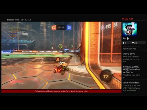 Rocket league game play with a champ!?!?!