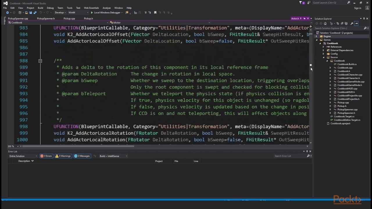 Unreal Engine 4 Scripting with C++ : The Benefits of Understanding the C++  Syntax | packtpub com