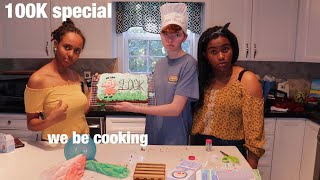 baking a Peppa Pig cake to celebrate 100K subscribers