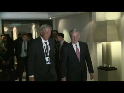 Secretary of Defense Jim Mattis meets with Minister for Defence of Singapore Dr Ng Eng Hen