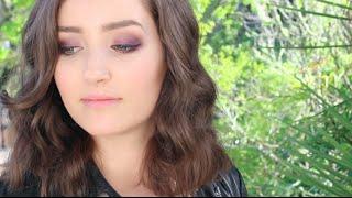 Fall Get Ready With Me   Purple Smokey Eye Makeup