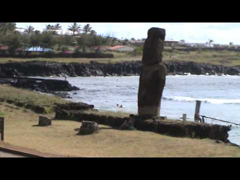 Amateur Surfing in Easter Island on a Calm Day