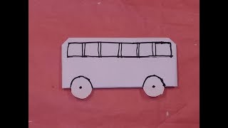 How To Make a Bus Using Paper.