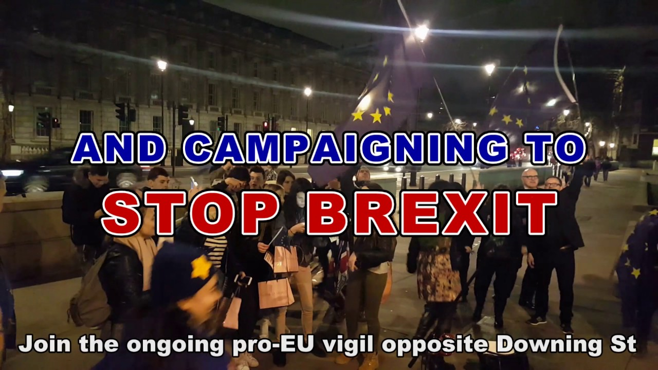 Pro eu vigil opposite downing st richmond terrace youtube for 18 richmond terrace