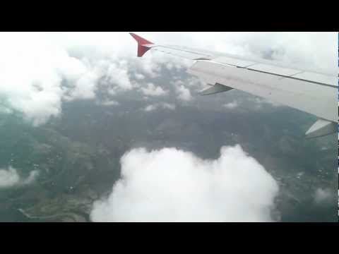 Beautiful Landing at the Kathmandu International Airport, Nepal
