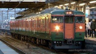 JR西日本 115系湘南色 D-27編成 網干駅 2013.4