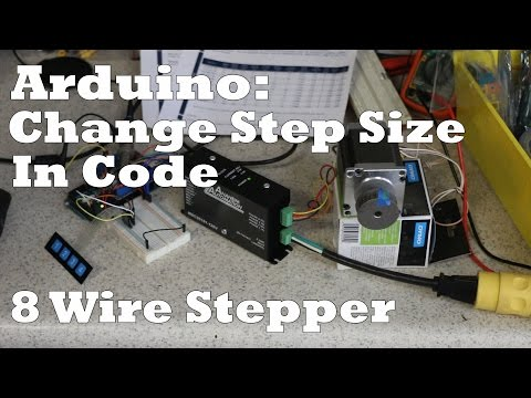 Arduino: Code & Wiring for Medium to Large Stepper Motors