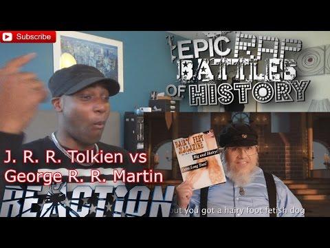 J. R. R. Tolkien vs George R. R. Martin. Epic Rap Battles of History S5 REACTION!