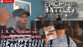 J. R. R. Tolkien vs George R. R. Martin. Epic Rap Battles of History S5 REACTION!