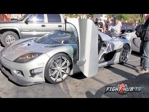Thumbnail: Floyd Mayweather rolls up to workout in 4.8 million dollar Koenigsegg car - Mayweather vs Berto