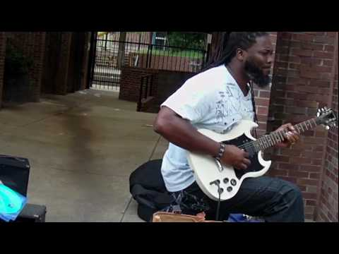 Rashawn And Carlos Dubose Playing Blues with Big Jerry in Memphis TN on Beale Street