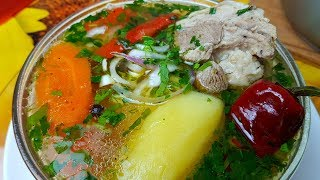 Шурпа из баранины, цыганка готовит. Gipsy cuisine.👍👍👍