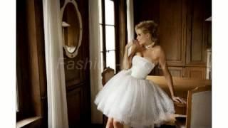 Короткое Пышное Белое Платье