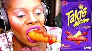 {TAKIS} FINGER FOOD MUKBANG ASMR EATING SOUND   Woo Mega Tex...
