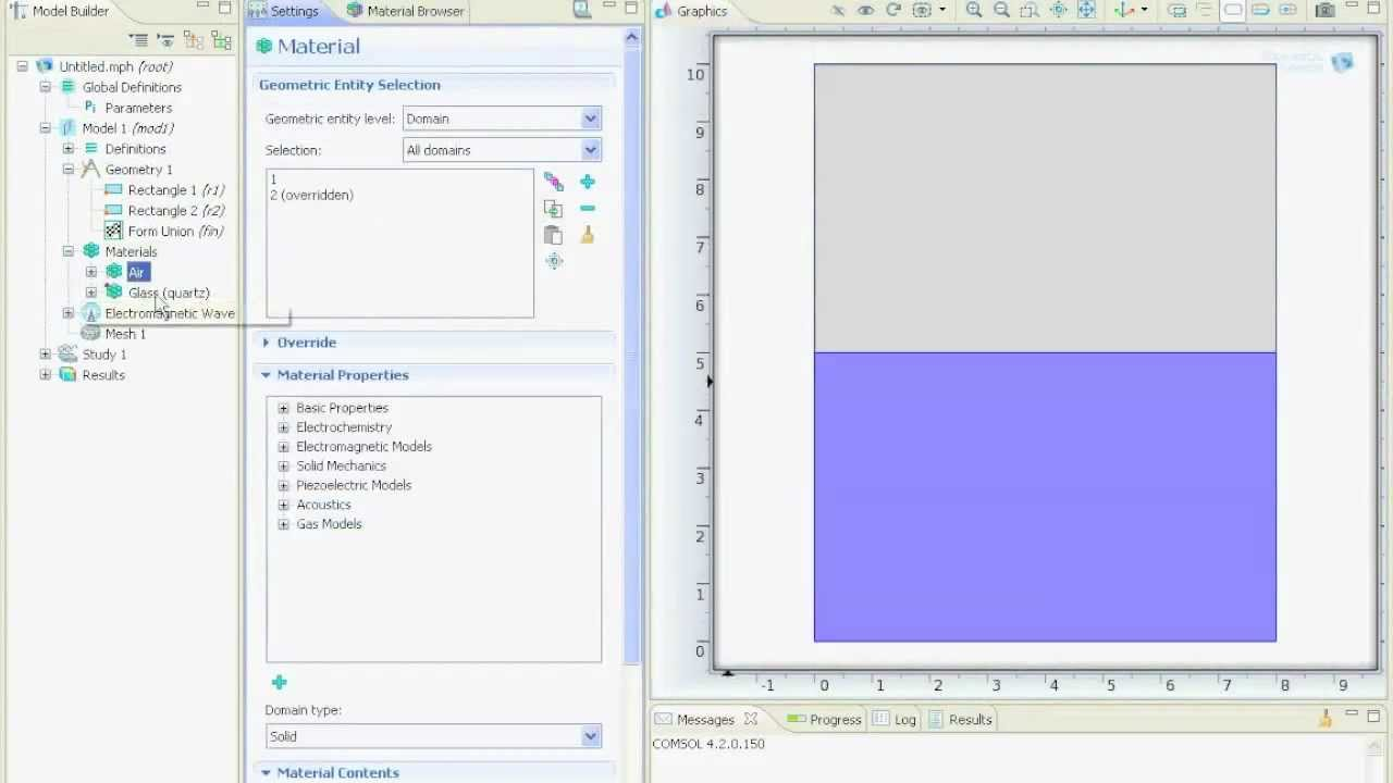 (14) Extract Data from Simulation, Line Scan, Line Graph - COMSOL 4 2  Tutorial