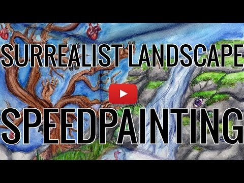Watercolor Surrealist Landscape Speedpainting – Daphne Ying