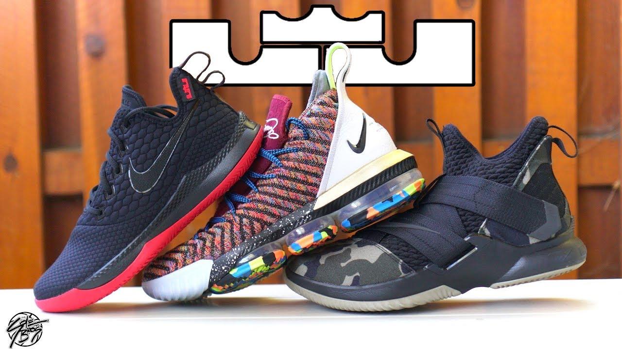 Lebron James' Multiple Shoe Lines