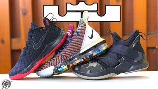 fb5b197c1a4 Detailed Look   Comparison of Lebron James  Multiple Shoe ...