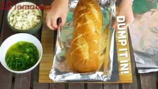 Закуска на скорую руку с сыром и зеленью