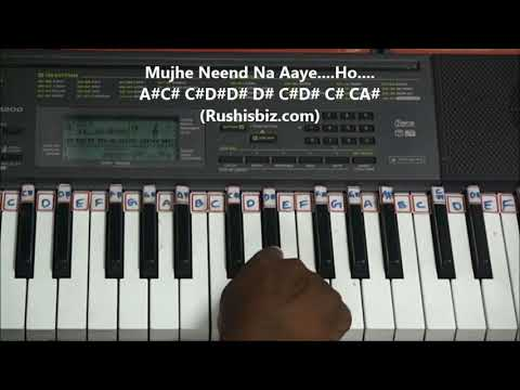 Chords For Mujhe Neend Na Aaye Dil Piano Video