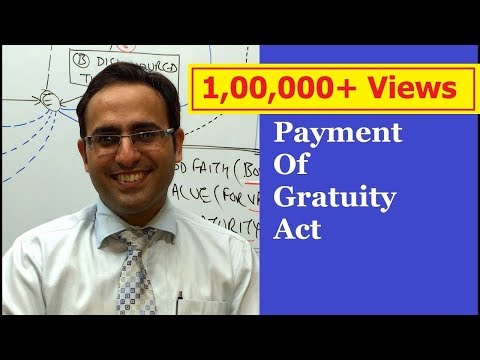 Introduction to Payment of Gratuity Act 1972 VIDEO-1  || Business Law Lectures for CA,CS,CMA