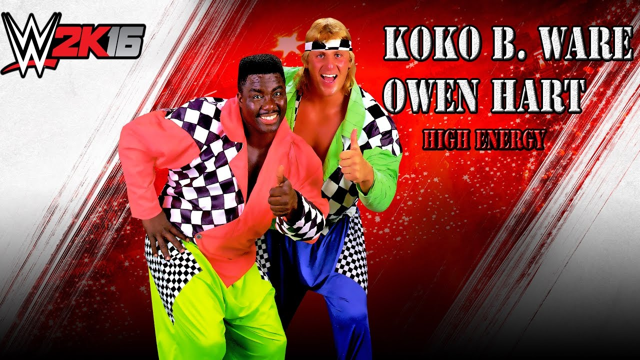wwe 2k16 mods high energy koko b ware owen hart youtube. Black Bedroom Furniture Sets. Home Design Ideas