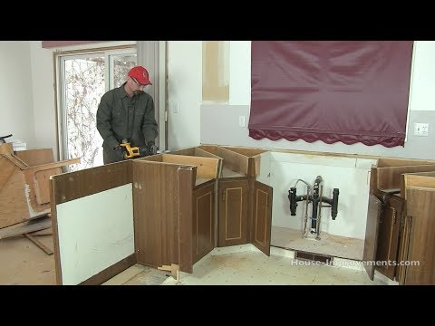 How To Remove Kitchen Cabinets Youtube