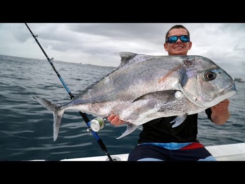 GIANT African Pompano! - TROPHY Fish- Catch Clean Cook!
