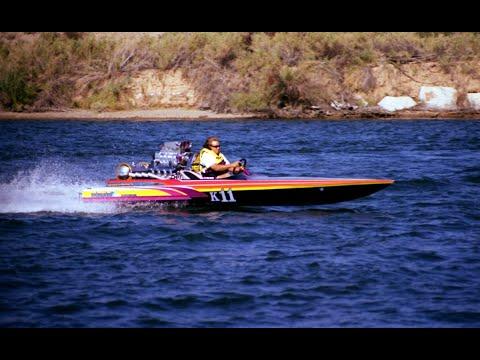 Tubing behind K-Boat