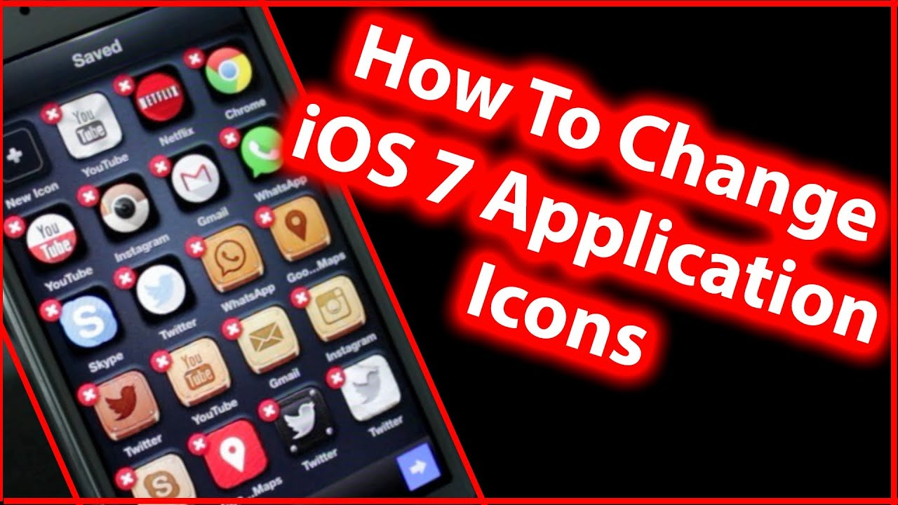 how to change app icons on iphone how to change ios 7 app icon design iphone 5s 5c 5 19872