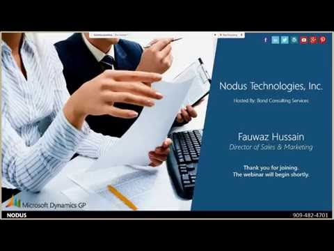 Nodus Technologies Demo: Learn Faster Payment Processing and A/R Automation for Dynamics GP