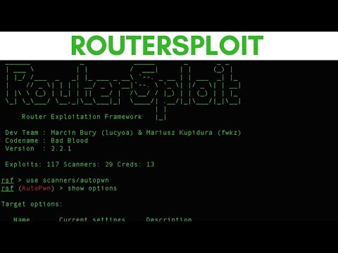 RouterSploit - Router Exploitation Framework - HackerSploit