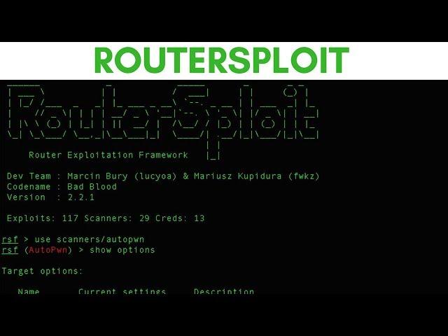 RouterSploit - Router Exploitation Framework