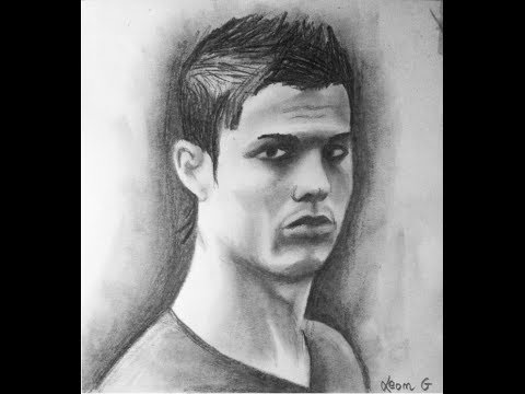 Cristiano ronaldo pencil drawing
