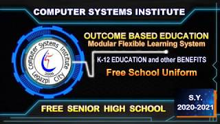 COMPUTER SYSTEMS INSTITUTE | SCHOOL YEAR 2020-2021