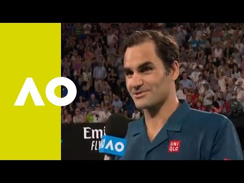 Roger Federer on-court interview (1R) | Australian Open 2019
