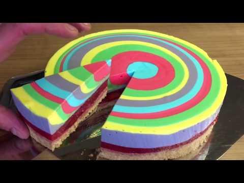 Regenbogenkuchen  ganz einfach  YouTube