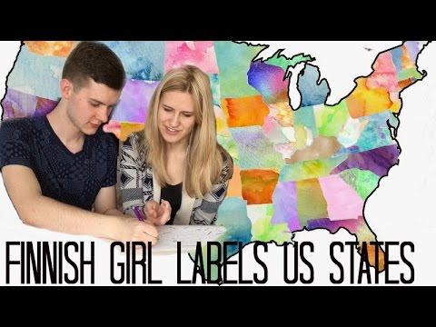 FINNISH GIRL LABELS US STATES