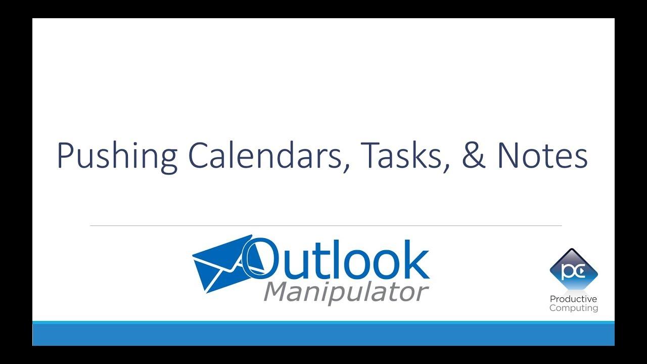 Outlook Manipulator - FileMaker Push Calendar, Tasks, and Notes to Outlook