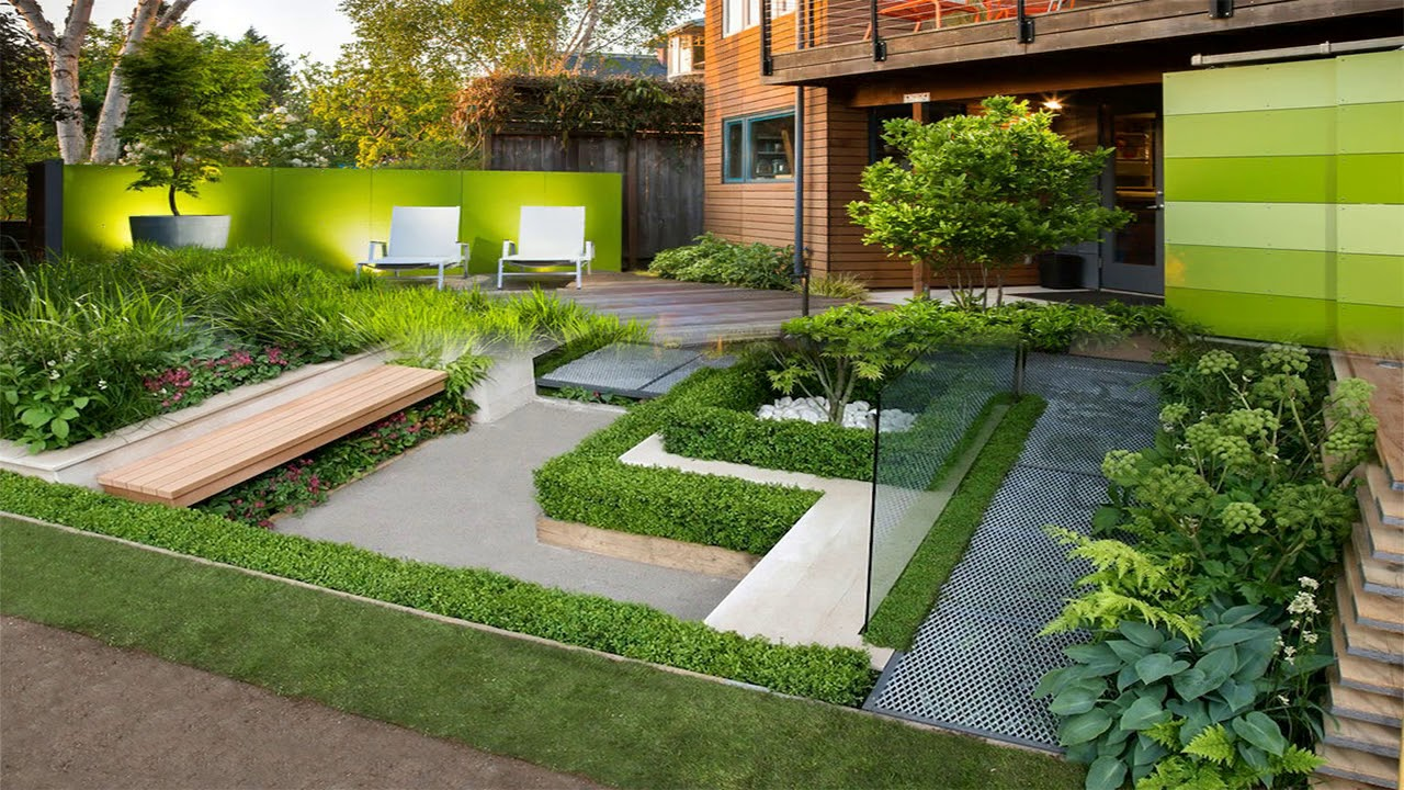 modern homes beautiful garden designs ideas