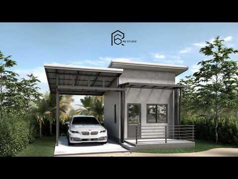 บ้านหลังเล็ก บ้านพักสไตล์รีสอร์ท งบน้อยสร้างเองได้ [แบบบ้าน ไอเดียบ้าน] [ NO.05-R6studioR6 ]