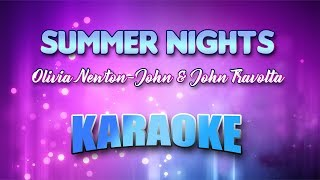 Olivia Newton-John & John Travolta - Summer Nights (Karaoke version with Lyrics)