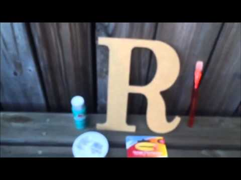 Monogram Letter Door Decor