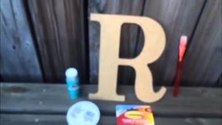Monogram Letter Door Decor
