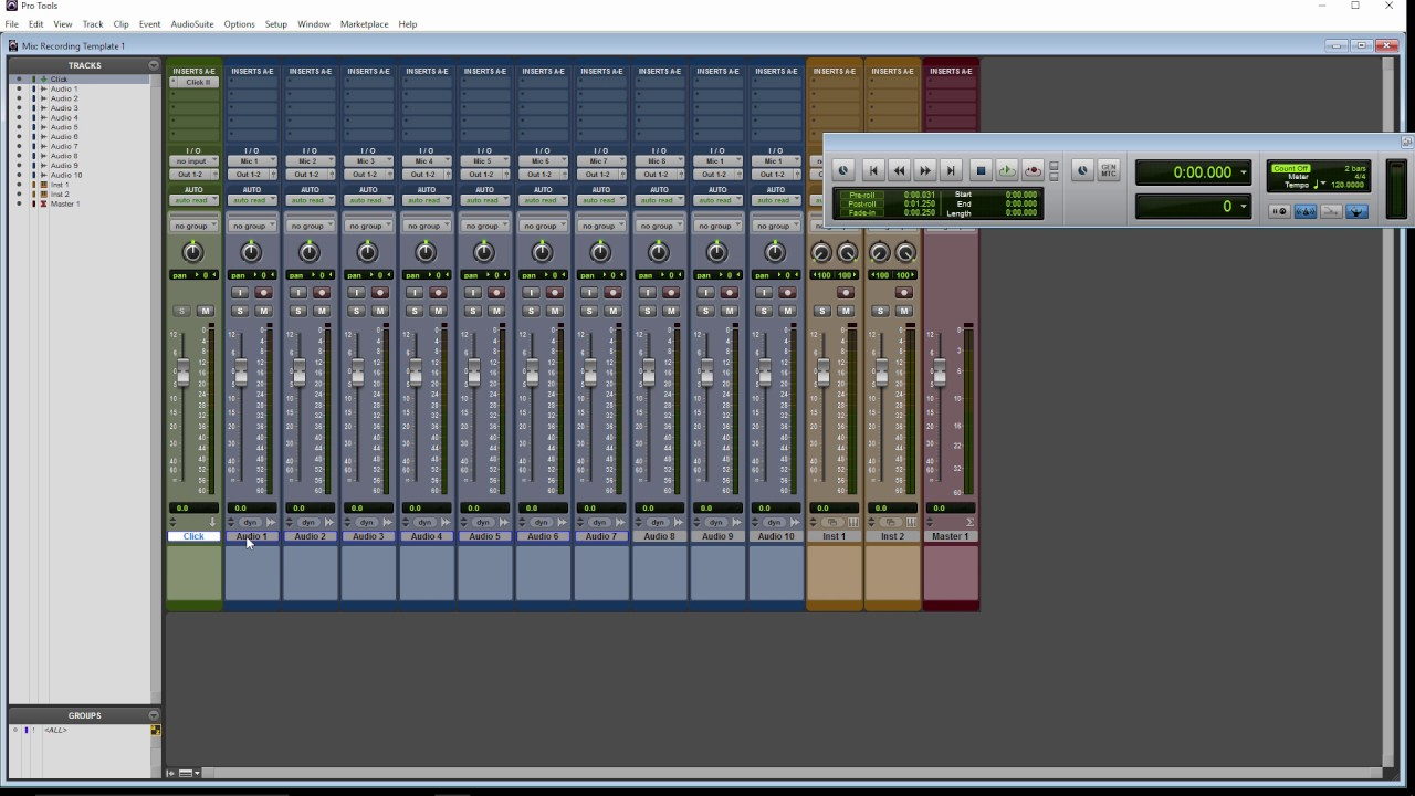Pro Tools Recording Template Homestudiomusicproduction Youtube
